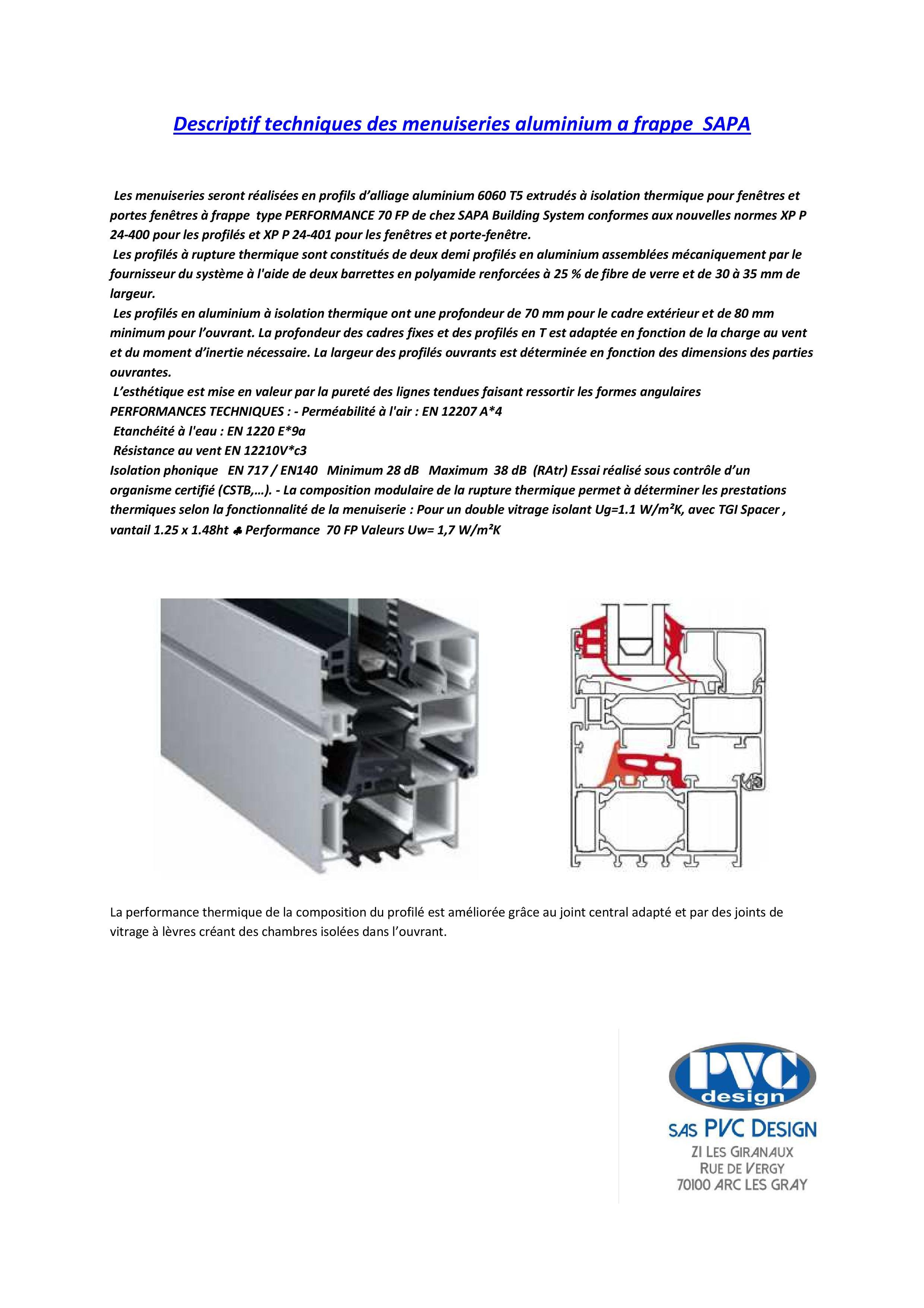 Descriptif techniques des menuiseries aluminium a frappe SAPALOGIC-page-001