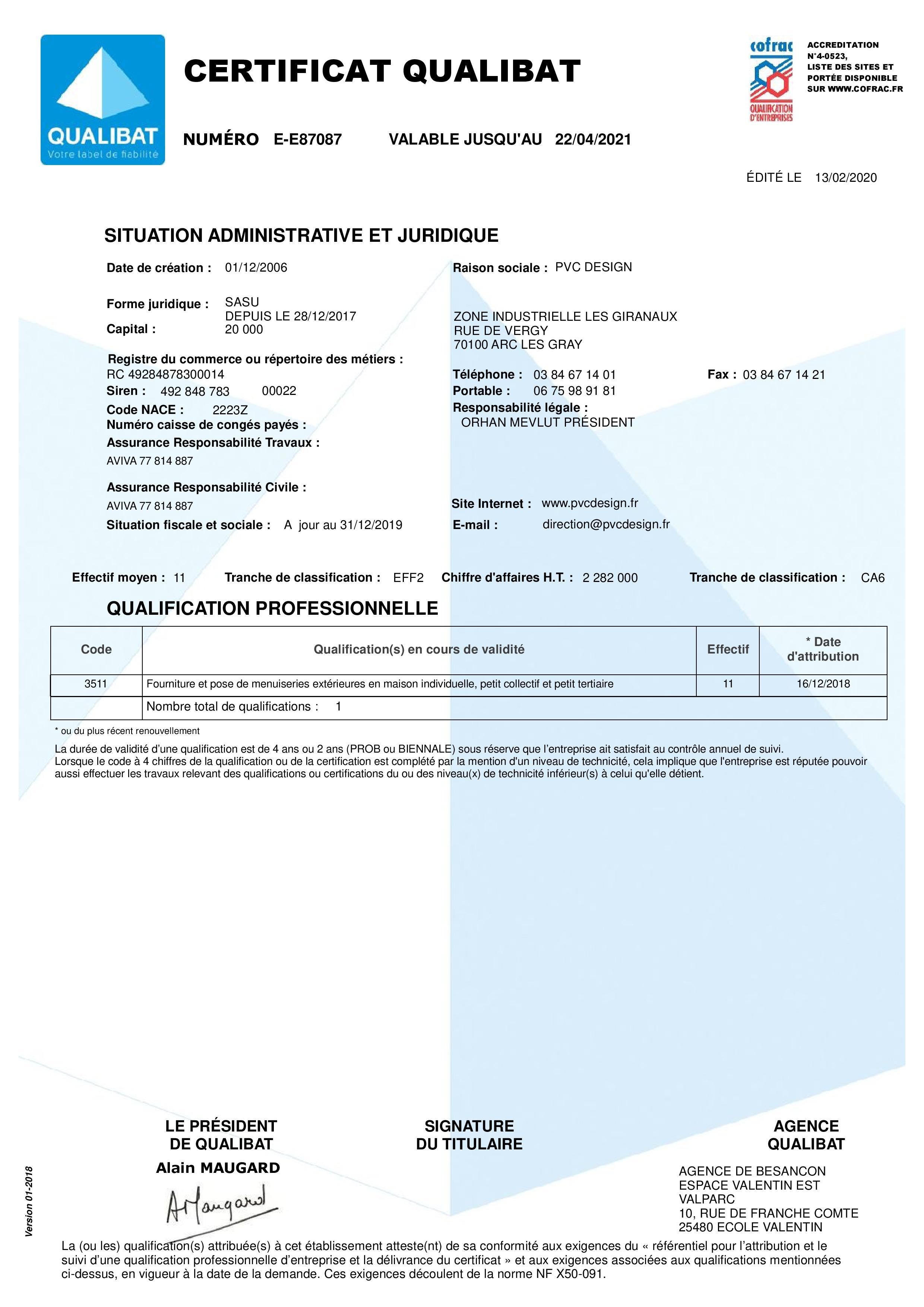 D25-Certificat-87087-PVC DESIGN-E87087-1-20200213-page-001